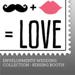 Envelopments Zazzle Store - Custom Postage - Kissing Booth Collection