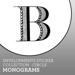 Envelopments Zazzle Store - Custom Stickers - Circle Monograms