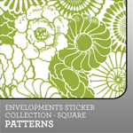 Envelopments Zazzle Store - Custom Stickers - Square Patterns