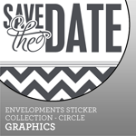 Envelopments Zazzle Store - Custom Stickers - Circle Graphics