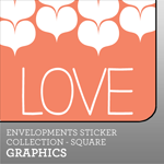 Envelopments Zazzle Store - Custom Stickers - Square Graphics