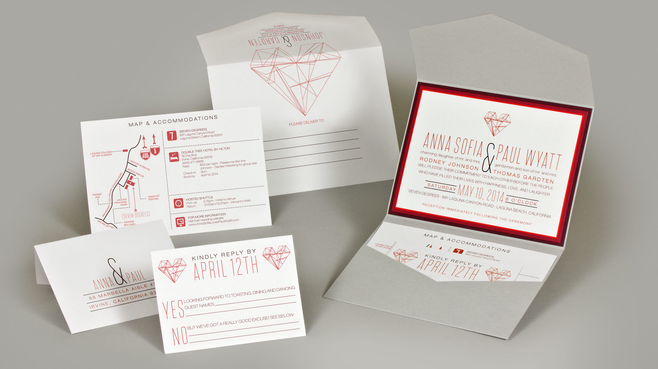 Anna & Paul Wedding Invitation